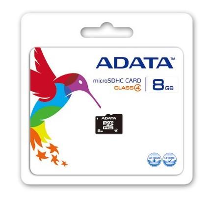MICRO SD 8 GB 1 ADAP. ADATA