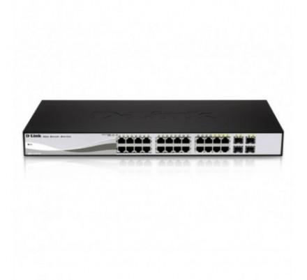 D-LINK SWITCH 24 PUERTOS 10/100/1Gbit w/4 Combo 1000BaseT/SFP