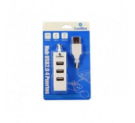 HUB 4 PUERTOS USB WHITE COOLBOX