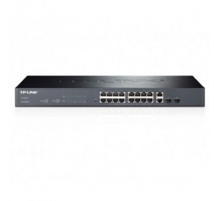 TP-LINK SMART SWITCH 16 10/100 + 2 Gbit.