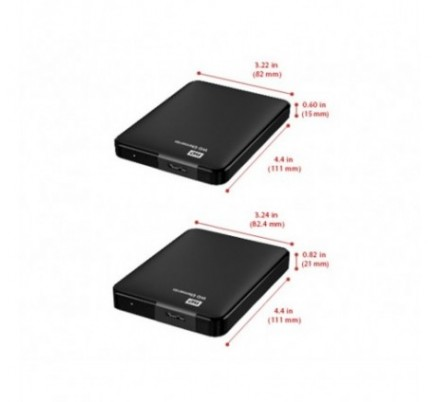 HDD EXTERNO WD 2.5 1 TB 3.0 ELEMENTS BLACK