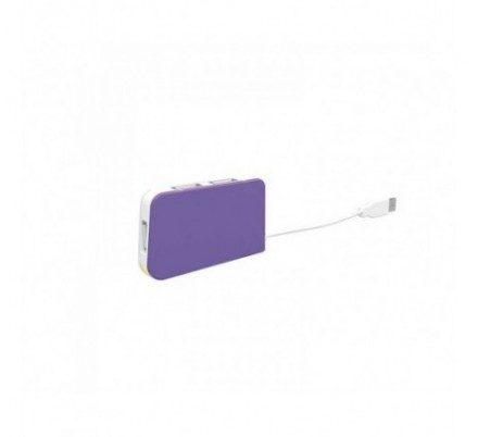 HUB 4 PUERTOS USB TRAVEL PURPLE APPROX