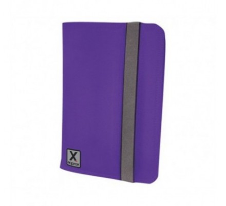 FUNDA UNIVERSAL TABLET 10'' NYLON PURPLE + SOPORTE APPROX