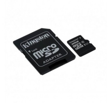 MICRO SD 16 GB 1 ADAP. CLASS 10 KINGSTON