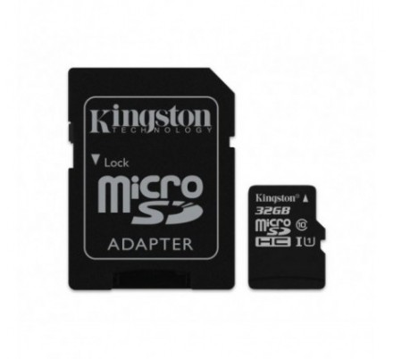 MICRO SD 32 GB 1 ADAP. CLASS 10 KINGSTON
