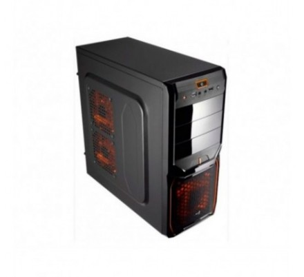 CAJA SEMITORRE ATX V3X BLACK/ORANGE S/F AEROCOOL