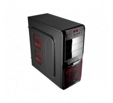 CAJA SEMITORRE ATX V3X BLACK/RED S/F AEROCOOL