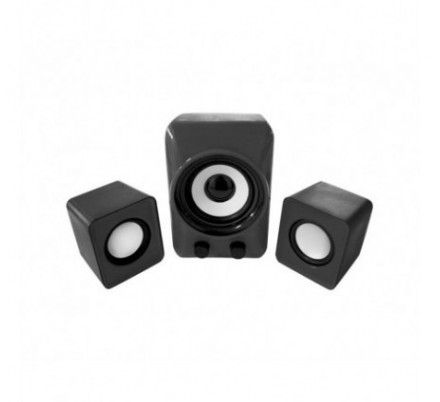 MINI ALTAVOCES 2.1 BLACK APPROX