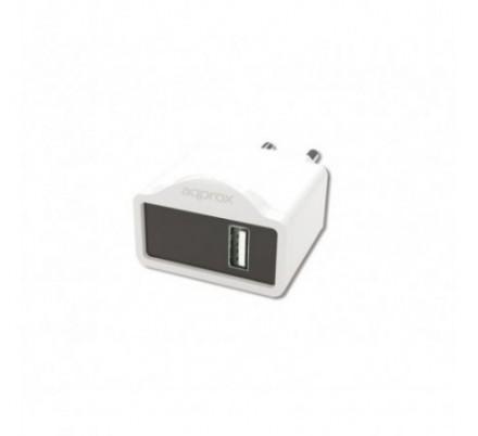 CARGADOR USB DE VIAJE/PARED 1A WHITE APPROX