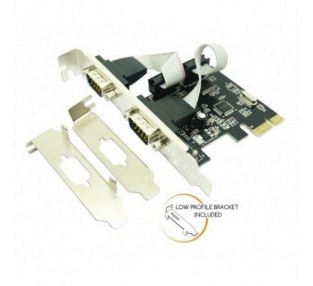 ADAPTADOR PCI-E 2 PUERTOS SERIE APPROX