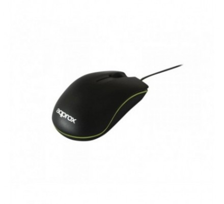 MOUSE OPTICO BLACK/GREEN APPROX