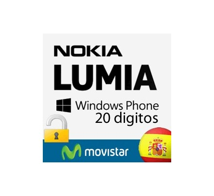 Liberar Nokia Lumia Movistar (20 Digitos)