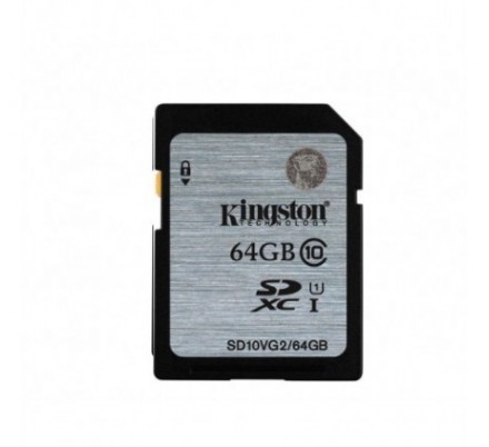 SECURE DIGITAL HC 64 GB CLASE10 KINGSTON