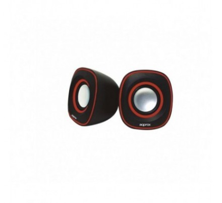 MINI ALTAVOCES 2.0 SPX2 BLACK/RED APPROX