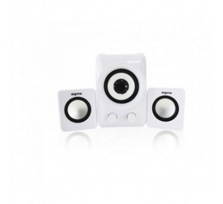 MINI ALTAVOCES 2.1 WHITE APPROX