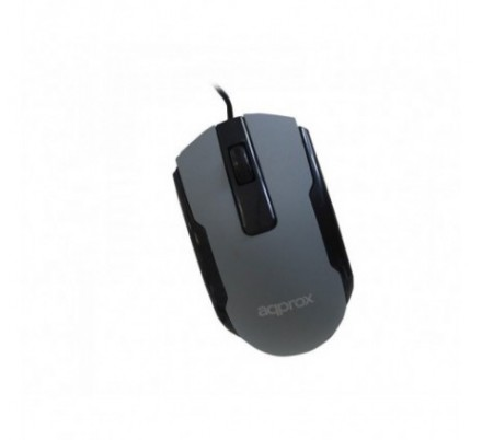 MOUSE OPTICO OFFICE GREY APPROX