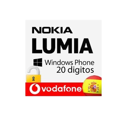 Liberar Nokia Lumia Vodafone (20 Digitos)