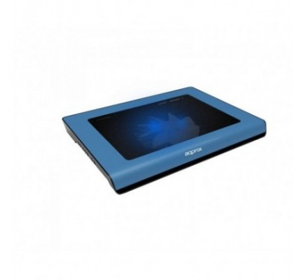 LAPTOP COOLER PAD BLUE 15.6'' 2 LEDS APPROX