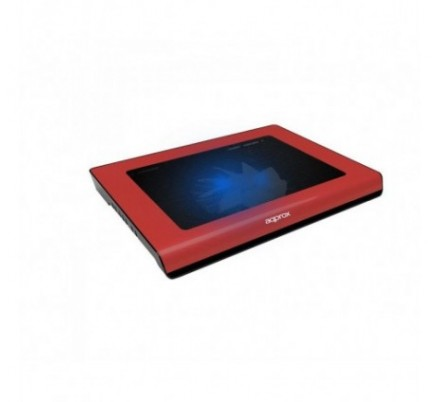 LAPTOP COOLER PAD RED 15.6'' 2 LEDS APPROX