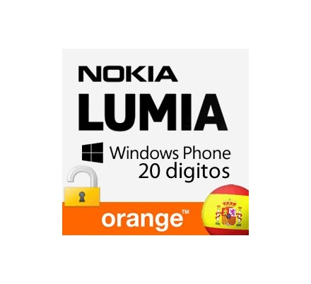 Liberar Nokia Lumia Orange (20 Digitos)