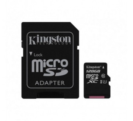 MICRO SD 128 GB 1 ADAP. CLASS 10 KINGSTON