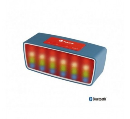 ALTAVOZ BLUETOOTH ROLLER GLOW BLUE + RADIO NGS