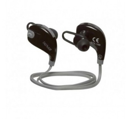 AURICULARES BLUETOOTH SPORT BTE-100 GREY DENVER