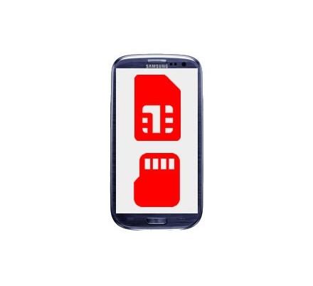 Cambio Lector Tarjeta Sim y MicroSD Samsung Galaxy S3 Mini