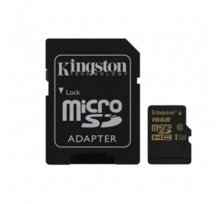 MICRO SDHC 16 GB 1 ADAP. ACTION CARD U3 KINGSTON