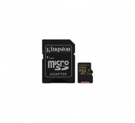MICRO SDHC 64 GB 1 ADAP. ACTION CARD U3 KINGSTON