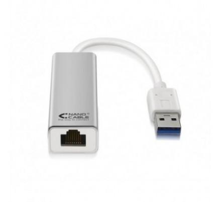 CONVERSOR USB 3.0 A ETHERNET 10/100/1000 Mbps 15cm NANOCABLE