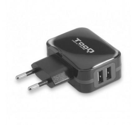 CARGADOR USB DE VIAJE/PARED 2xUSB (3.4A) NEGRO TOOQ