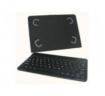 FUNDA UNIVERSAL TABLET 10.1'' CON TECLADO BT BLACK LEOTEC