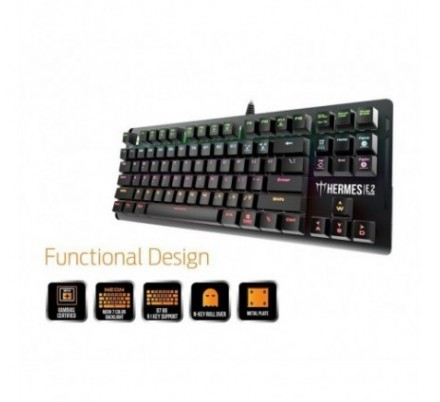 TECLADO MECANICO GAMING BROWN SWITCH HERMES E2 GAMDIAS